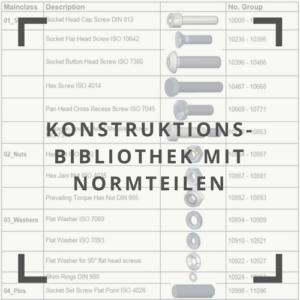 Konstruktionsbibliothek mit Normteilen